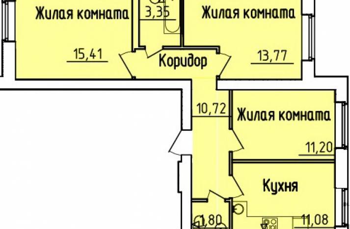 3 комнатная квартира №153