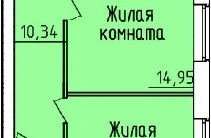2 комнатная квартира №163