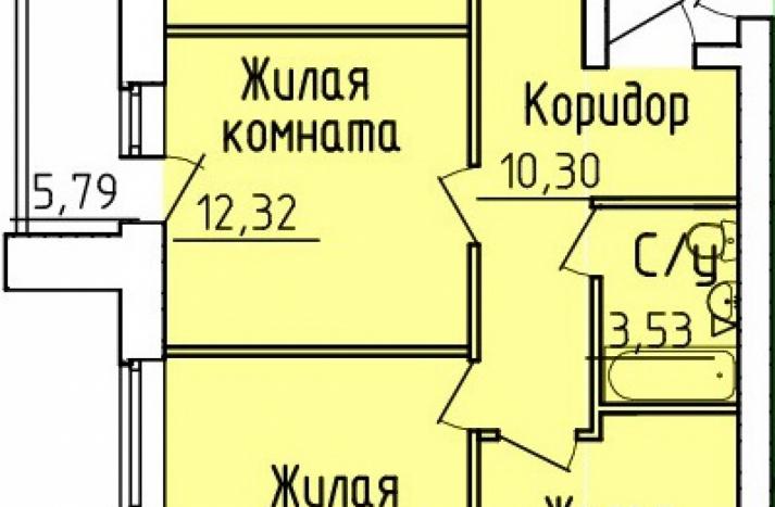 3 комнатная квартира №158