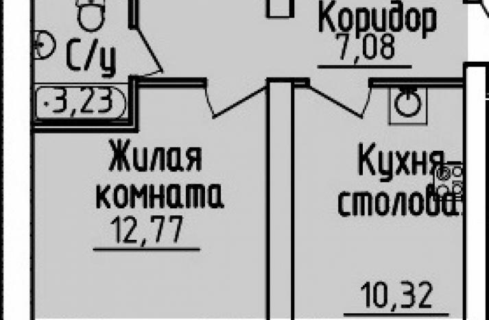 1 комнатная квартира №1