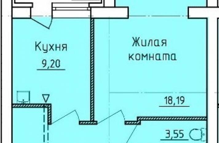 1-комнатная квартира №25
