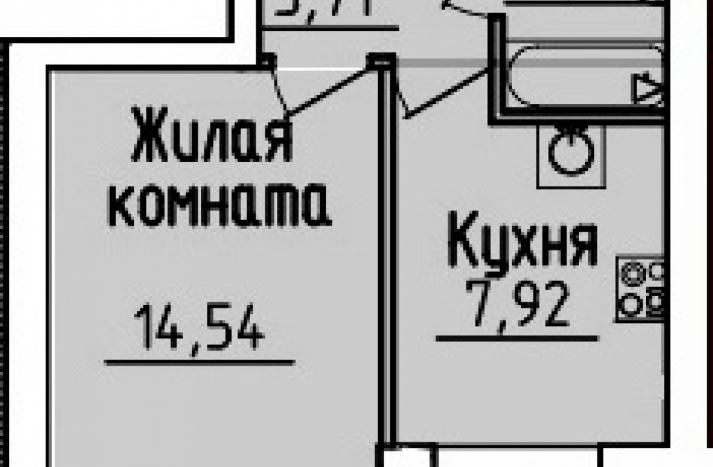1 комнатная квартира №41