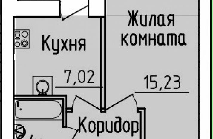 1 комнатная квартира №54