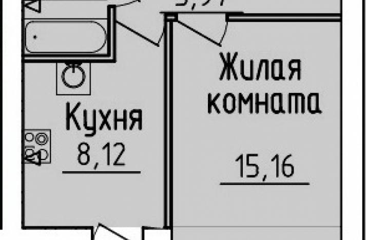 1 комнтаная квартира №51