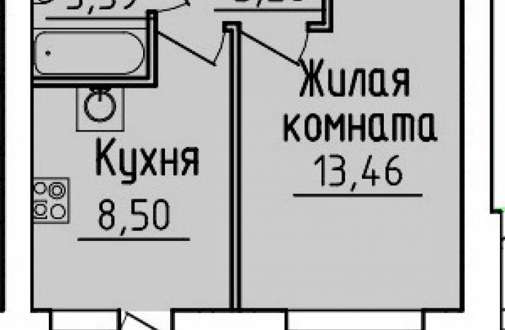 1 комнатная квартира №8