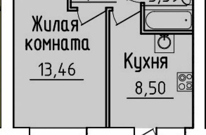 1 комнатная квартира №9