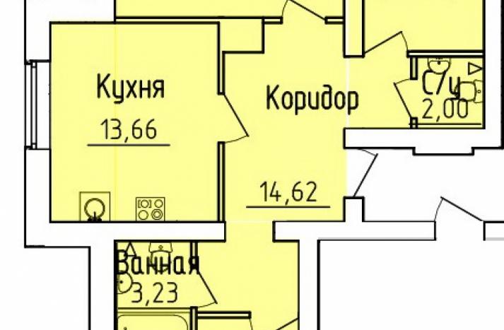3 комнатная квартира №6